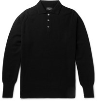 Emma Willis Cashmere Polo Shirt Black