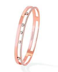 Messika Move Romane 18K Rose Gold Bangle With Diamonds