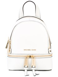 Michael Michael Kors Rhea Extra Small Backpack Women Leather One Size White