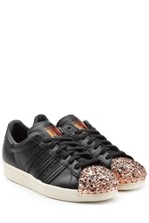 Adidas Originals Leather Superstar 80S Leather Sneakers Black