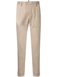 Dolce And Gabbana Cropped Chino Trousers Brown