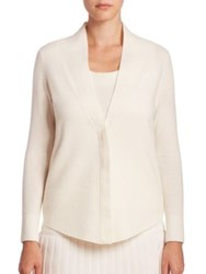 Akris Punto Cashmere Blend Cardigan Cream
