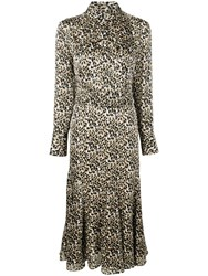 Equipment Leopard Print Shirt Dress Neutrals