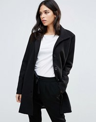 B.Young Funnel Neck Jacket Black