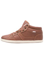 British Knights Restyle Hightop Trainers Cognac
