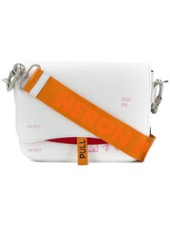 Heron Preston Logo Crossbody Bag White