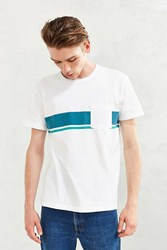 Cpo Almont Engineered Stripe Tee White