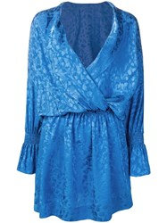 Zadig And Voltaire Riri Jac Leo Robe Dress Blue