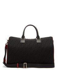 Fendi Leather Trimmed Ff Mesh Holdall Black
