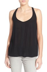 Junior Women's Bp. Embroidered Tank Black