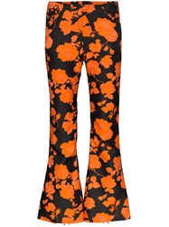 Marques Almeida Marques'almeida Floral Print Cropped Flared Trousers 60