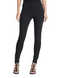 Lauren Ralph Lauren Petite Paneled Ponte Leggings Black