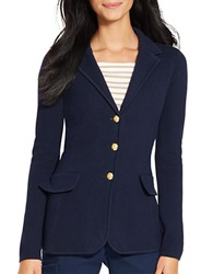 Lauren Ralph Lauren Cotton Sweater Blazer Regal Navy