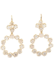 Marie Helene De Taillac Rainbow Moonstone Earrings White