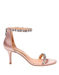 Belle By Badgley Mischka Zaylee Ankle Strap Satin Dress Sandals Champagne