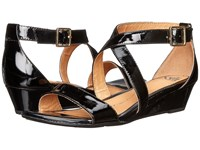 Sofft Innis Black Patent Women's Wedge Shoes