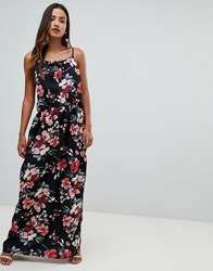 Girl In Mind High Neck Floral Split Maxi Dress Multi