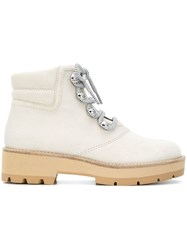 3.1 Phillip Lim Dylan Canvas Lace Up Hiking Boot Neutrals