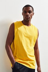 Urban Outfitters Uo Sport Muscle Tee Gold