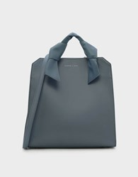 Charles And Keith Soft Handle Tote Bag S.Blue
