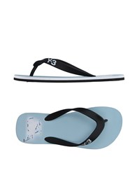 Y 3 Toe Strap Sandals Sky Blue