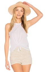 Chaser Tie Front Muscle Tee White
