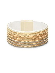 Design Lab Lord And Taylor Textured Chain Bangle Bracelet Smoke Multi