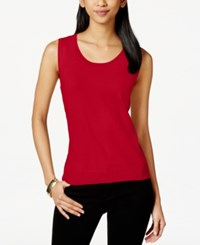 Charter Club Sleeveless Scoopneck Sweater Created For Macy's Steamy Red