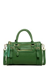 Erica Anenberg Venteux Leather Satchel Green
