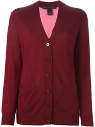Marc By Marc Jacobs Two Tone Cardigan Red