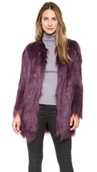 Unreal Fur Wanderlust Coat Wine