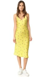 One By Unveil Project Printed Floral Slip Dress Yellow Floral