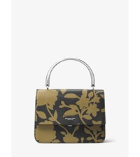 Kylie Small Floral Leather Top Handle Bag