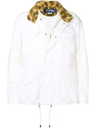 Junya Watanabe Man Panelled Shirt Jacket White