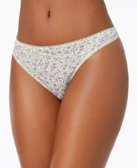 Charter Club Pretty Cotton Thong Small Floral