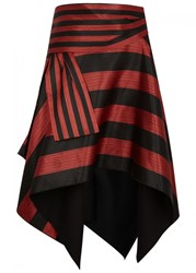 Proenza Schouler Striped Jacquard Skirt Black And Red
