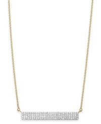 Wrapped Diamond Bar Pendant Necklace In 10K Gold 1 4 Ct. T.W.