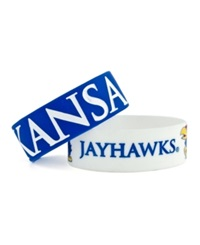 Aminco Kansas Jayhawks Wide Bracelet 2Pk Team Color
