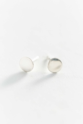 Urban Renewal Upper Metal Class Silver Circle Earring