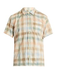 Oliver Spencer Hawaiian Checked Cotton Blend Shirt White Multi