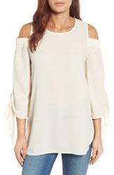 Gibson Women's Cold Shoulder Top Ivory