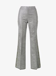 Giambattista Valli Floral Embroidered Trousers Grey