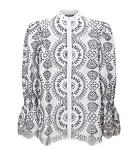 Alexander Mcqueen Broderie Anglaise Tunic Shirt Female Multi