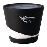 Wedgwood Burlington Pot White On Black Black And White