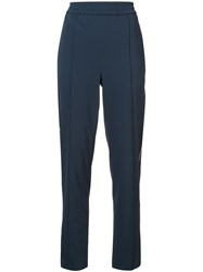 Kuho High Waisted Trousers Blue