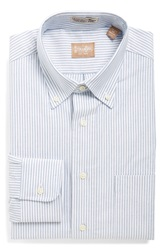 Gitman Brothers Vintage 'Cambridge Oxford' Regular Fit Stripe Dress Shirt Blue
