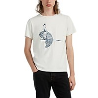 Remi Relief Embroidered Cotton T Shirt Cream