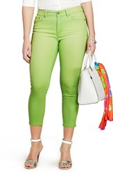 Plus Size Women's Lauren Ralph Lauren Stretch Crop Skinny Jeans Honeydew Melon