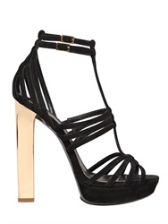 Emilio Pucci 130Mm Leather Cage Sandals