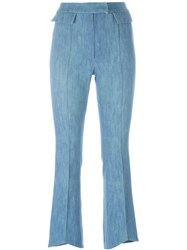 John Galliano Vintage Bootcut Trousers Blue